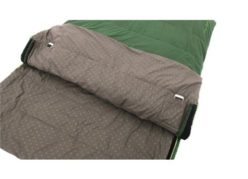 Outwell Colosseum Double Rectangular sleeping bag Cotton, Polyester Green