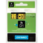 Dymo D1 24mm Black/Yellow labels 53718