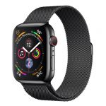 Apple Watch Series 4 GPS Cell 44mm Black Steel Black Loop