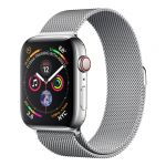 Apple Watch Series 4 GPS Cell 44mm Steel Milanese Loop